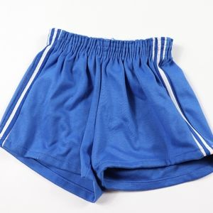 70s New Pele Brand Youth Large Soccer Shorts Blue